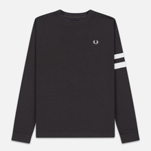 Мужская толстовка Fred Perry Tipped Sleeve Gunmetal фото- 0
