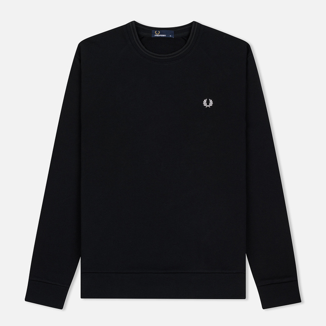 Мужская толстовка Fred Perry Towelling Laurel Wreath Black