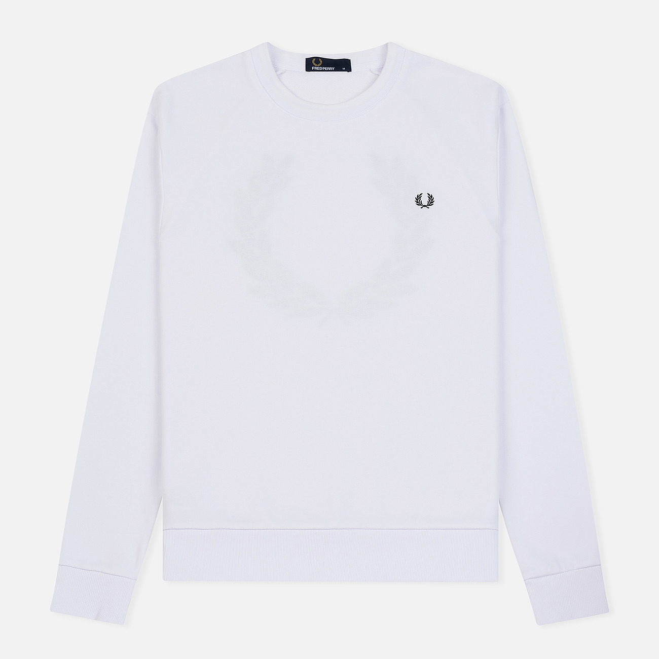 Мужская толстовка Fred Perry Towelling Laurel Wreath White