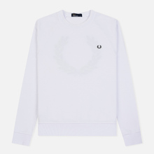 Мужская толстовка Fred Perry Towelling Laurel Wreath White фото- 0