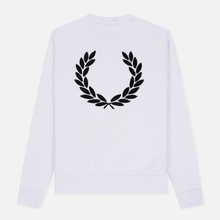 Мужская толстовка Fred Perry Towelling Laurel Wreath White фото- 1
