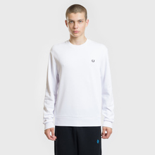 Мужская толстовка Fred Perry Towelling Laurel Wreath White фото- 2