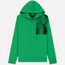 Мужская толстовка Fred Perry x Raf Simons Shoulder Print Hoodie Fern Green фото- 0