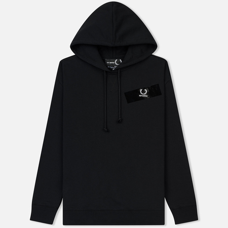 Мужская толстовка Fred Perry x Raf Simons Tape Detail Hoodie Black