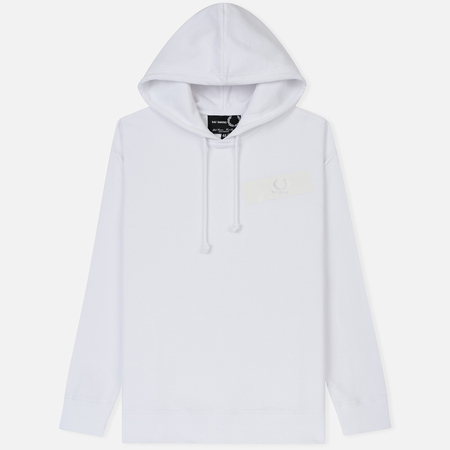 Мужская толстовка Fred Perry x Raf Simons Tape Detail Hoodie White