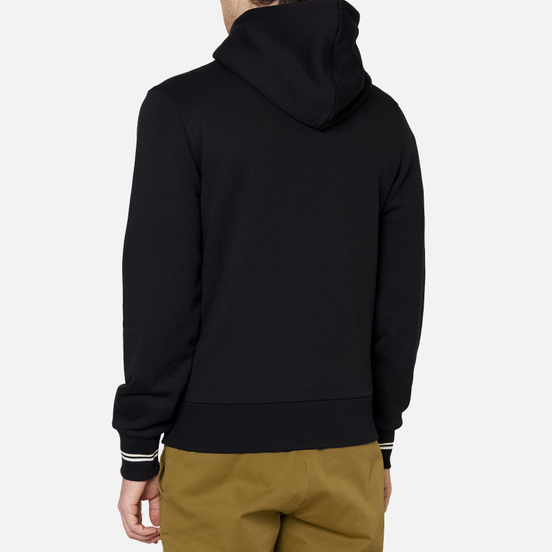 Мужская толстовка Fred Perry Zip Through Hoodie Black