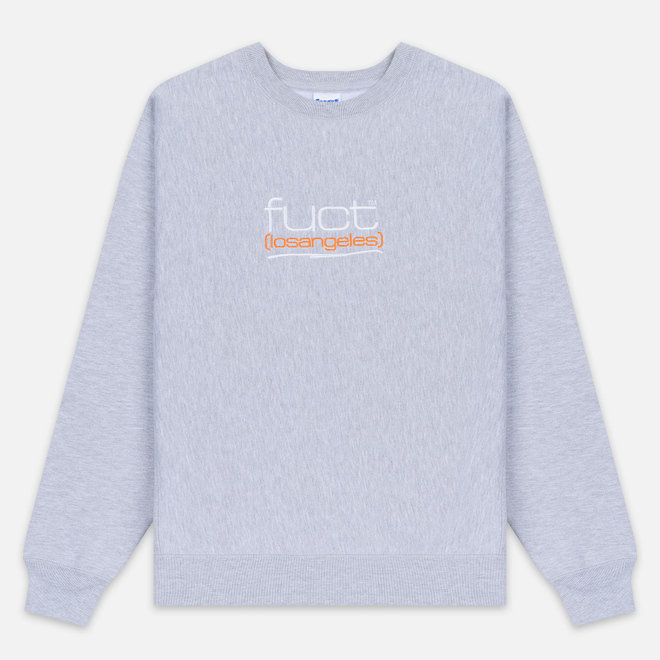 Мужская толстовка Fuct Fuct LA Embroidered Crew Neck Heather Grey