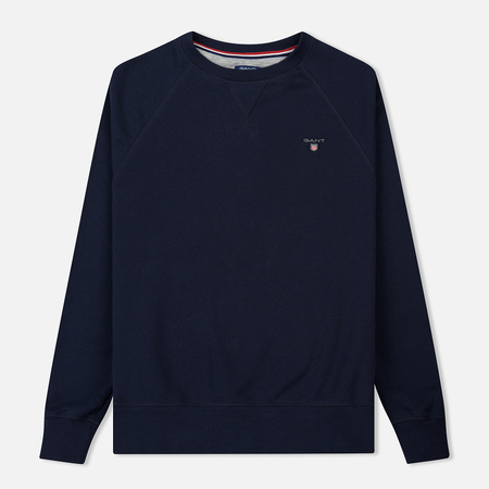 Мужская толстовка Gant Original Crew Neck Evening Blue