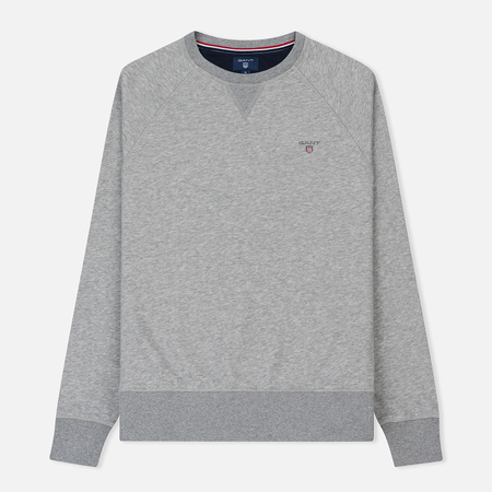 Мужская толстовка Gant Original Crew Neck Grey Melange