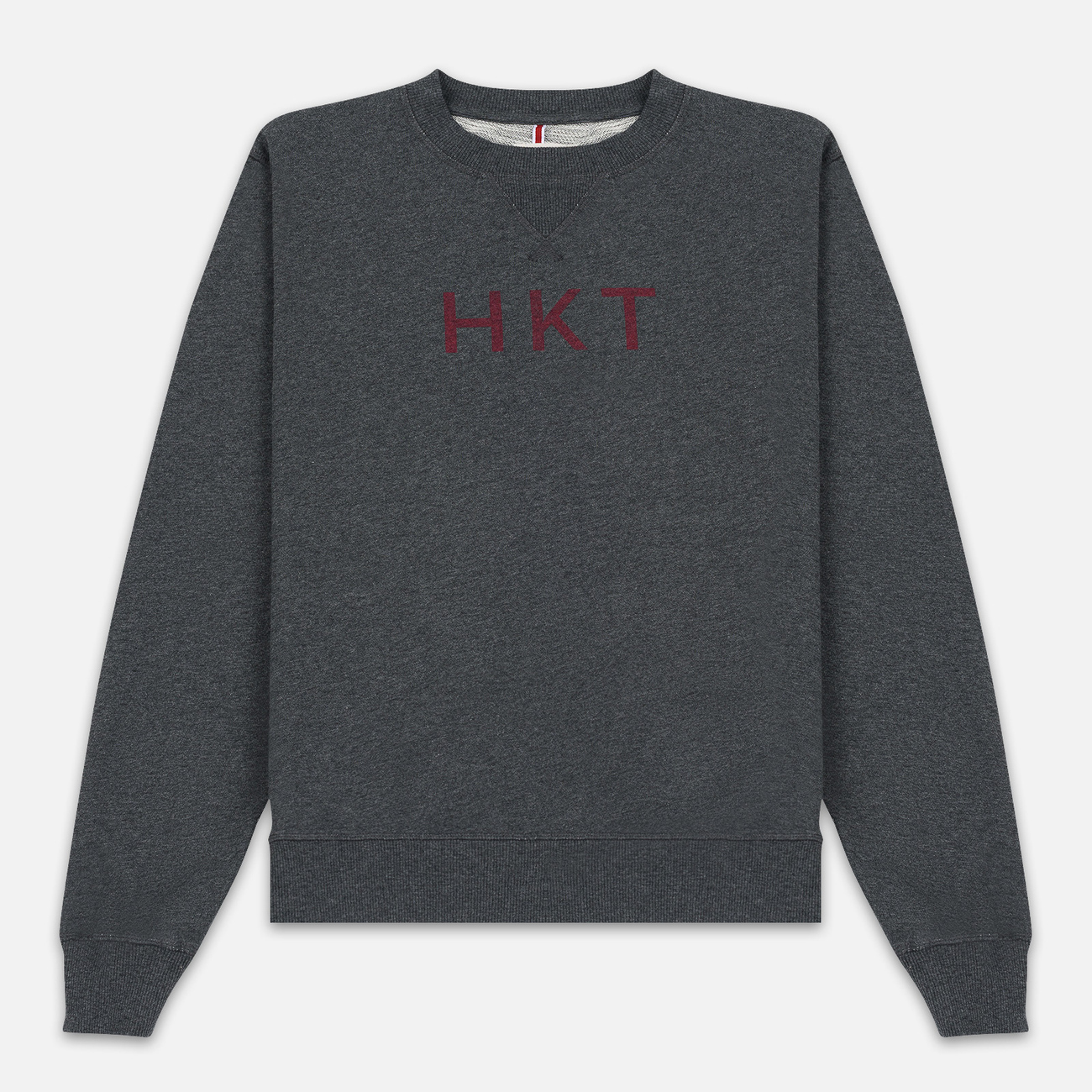 Мужская толстовка Hackett Logo HKT Crew Neck Charcoal