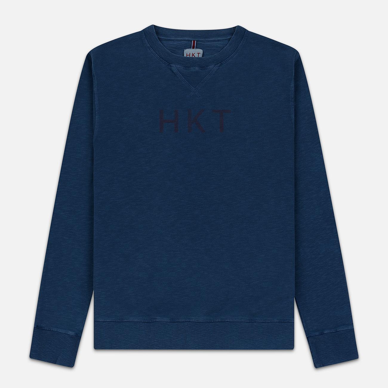 Мужская толстовка Hackett Logo HKT Crew Neck Dark Blue