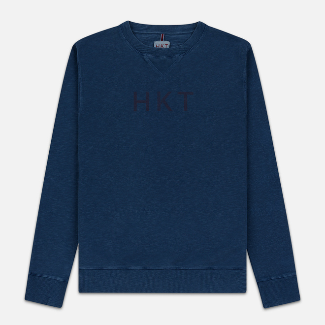 Мужская толстовка Hackett Logo HKT Crew Neck Dark Blue