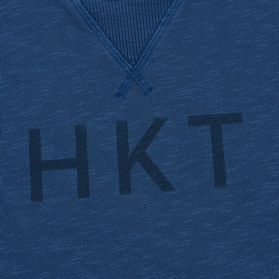 Мужская толстовка Hackett Logo HKT Crew Neck Petrol