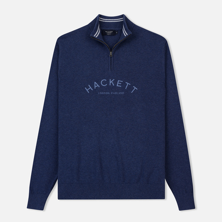 Мужская толстовка Hackett Mr. Classic Half-Zip Navy