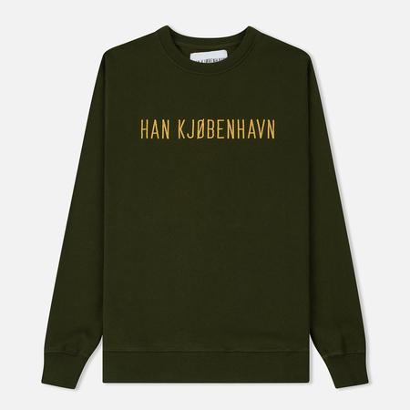 Мужская толстовка Han Kjobenhavn Casual Crew Logo Army