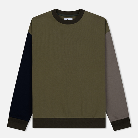 Мужская толстовка Head Porter Plus Panel Crew Neck Khaki