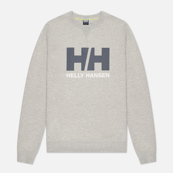 Мужская толстовка Helly Hansen HH Logo Crew Grey Melange/Black/White