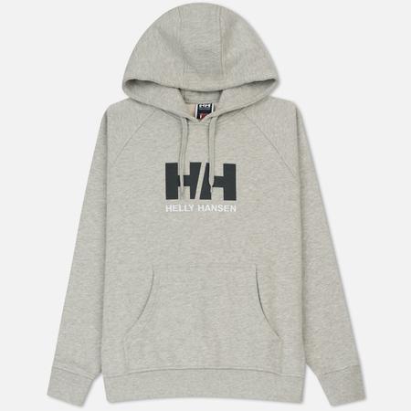 Мужская толстовка Helly Hansen HH Logo Hoodie Grey Melange