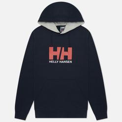 Мужская толстовка Helly Hansen HH Logo Hoodie Navy/Grey