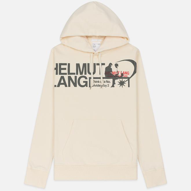 Мужская толстовка Helmut Lang Standard Hoodie Pelvis Generic Pearl