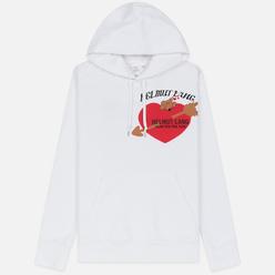 Мужская толстовка Helmut Lang Standard Hoodie Valentine Chalk White
