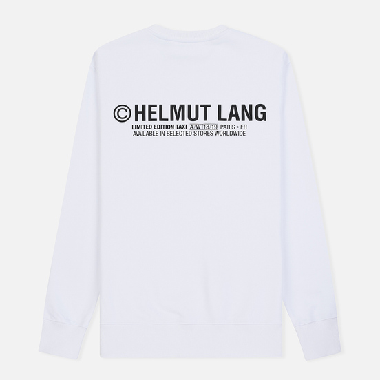 Мужская толстовка Helmut Lang Taxi Crew Neck White