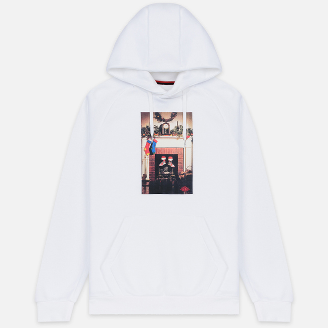 Мужская толстовка Jordan Jumpman Chimney Fleece Hoodie White/Black