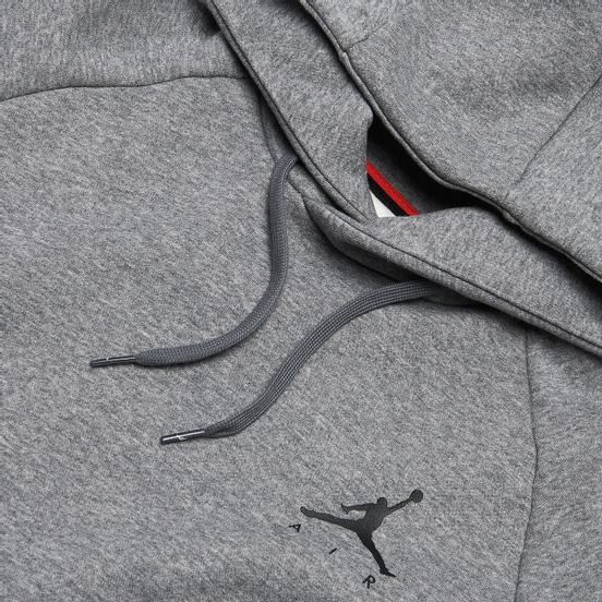 Мужская толстовка Jordan Jumpman Fleece Carbon Heather/Black