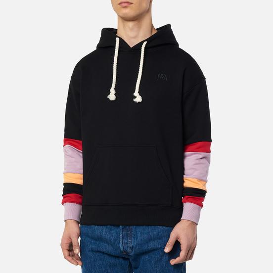 Мужская толстовка JW Anderson Colourblock Sleeves Hoodie Black