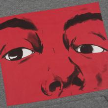 Мужская толстовка JW Anderson Eyes Printed Hoodie Light Grey Melange фото- 2