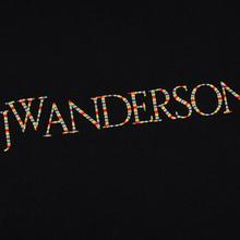 Мужская толстовка JW Anderson JWA Embroidery Logo Hoodie Black фото- 2