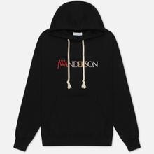 Мужская толстовка JW Anderson JWA Logo Embroidery Hoodie Black фото- 0