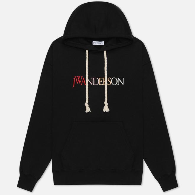 Мужская толстовка JW Anderson JWA Logo Embroidery Hoodie Black