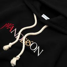 Мужская толстовка JW Anderson JWA Logo Embroidery Hoodie Black фото- 1