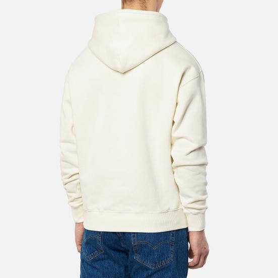 Мужская толстовка JW Anderson JWA Logo Embroidery Hoodie Off White