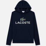 Мужская толстовка Lacoste Big Logo Hoodie Navy Blue фото- 0