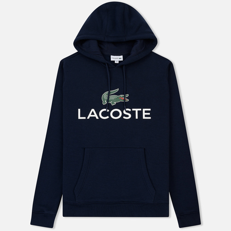 Мужская толстовка Lacoste Big Logo Hoodie Navy Blue
