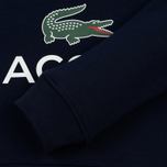 Мужская толстовка Lacoste Big Logo Hoodie Navy Blue фото- 3