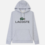 Мужская толстовка Lacoste Big Logo Hoodie Silver Chine фото- 0