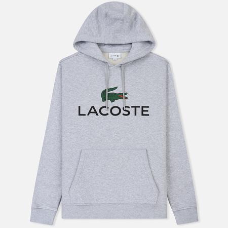 Мужская толстовка Lacoste Big Logo Hoodie Silver Chine