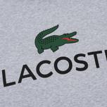 Мужская толстовка Lacoste Big Logo Hoodie Silver Chine фото- 2