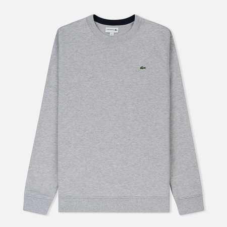 Мужская толстовка Lacoste Brushed Fleece Silver/Navy Blue