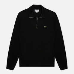 Мужская толстовка Lacoste Classic 1/2 Zip Black