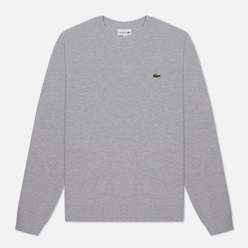 Мужская толстовка Lacoste Cotton Pique Fleece Crew Grey Chine