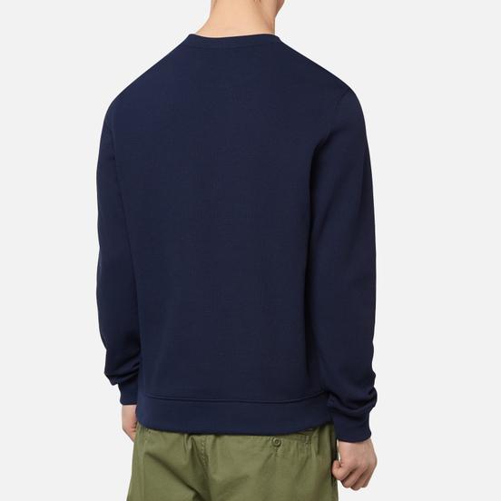 Мужская толстовка Lacoste Cotton Pique Fleece Crew Navy Blue