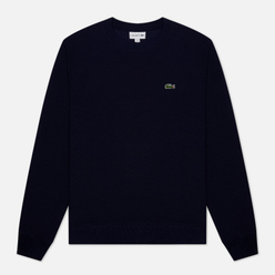 Мужская толстовка Lacoste Cotton Pique Fleece Crew Navy Blue
