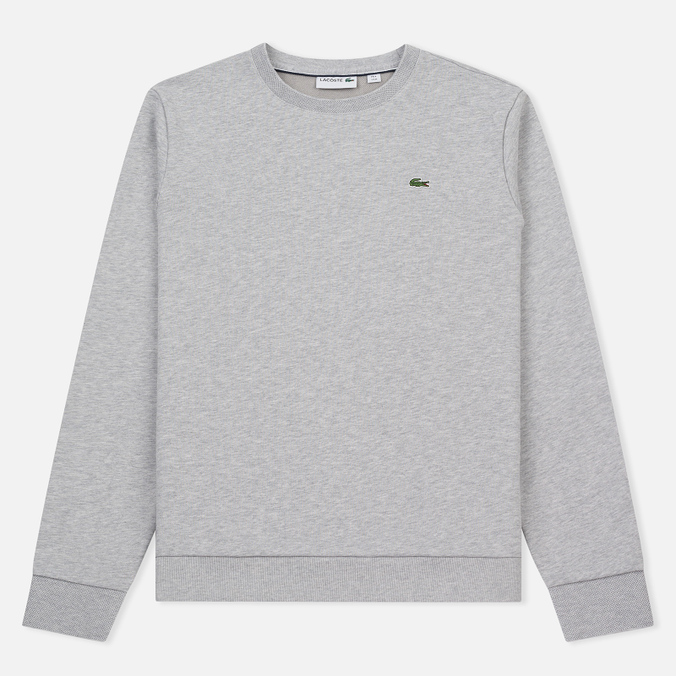 Мужская толстовка Lacoste Crew Neck Fleece Silver Grey Chine