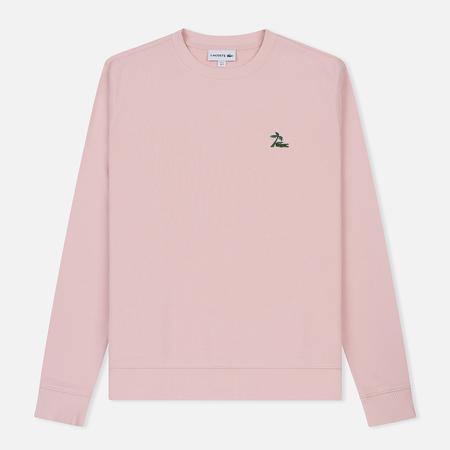 Мужская толстовка Lacoste Crew Neck Palm Tree Croc Light Pink