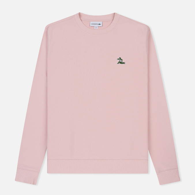 Мужская толстовка Lacoste Crew Neck Palm Tree Croc Light Pink