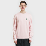 Мужская толстовка Lacoste Crew Neck Palm Tree Croc Light Pink фото- 1
